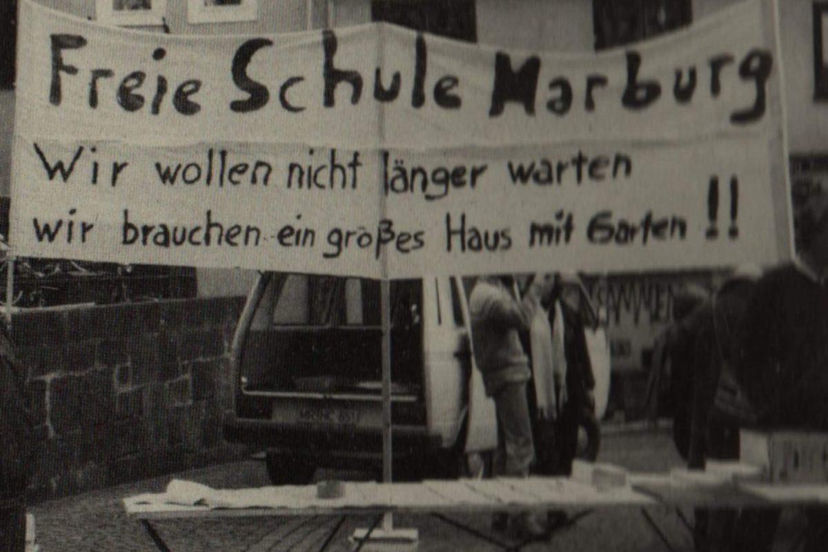 Protestaktion zur Raumsuche Marburg Oberstadt